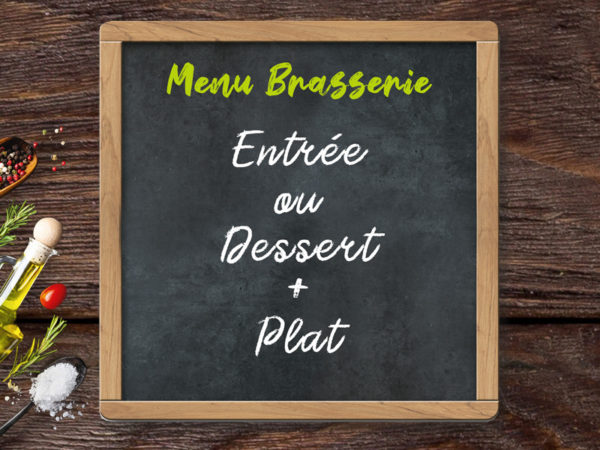 menu brasserie entree ou dessert plat