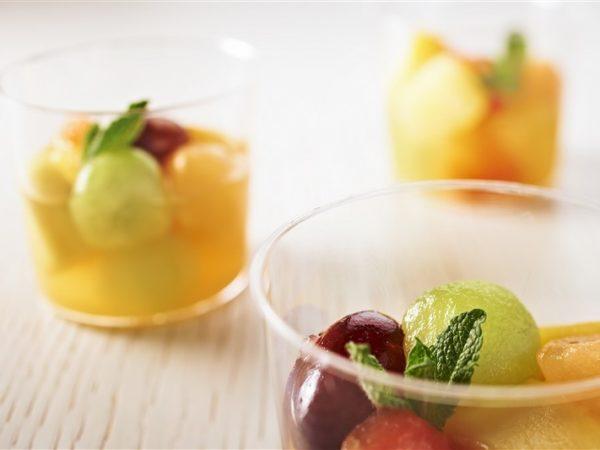 petit dejeuner pause cafe shooters fruits frais