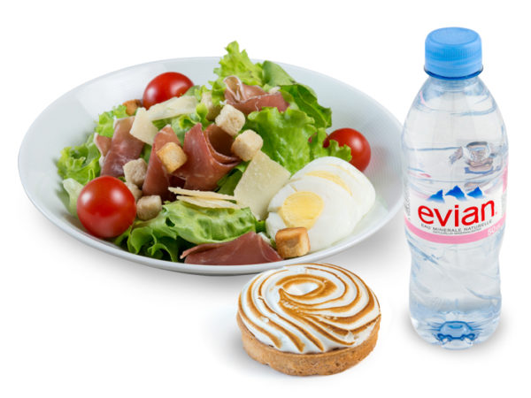 salade dessert plus boisson
