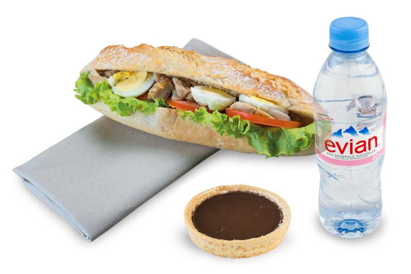 sandwich dessert plus boisson